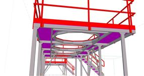 The steel structure of platforms