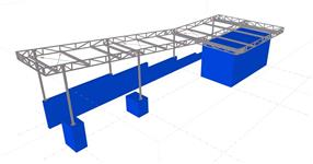 The steel structure of roof for pedestrian corridor