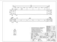 Příklad výrobního výkresu expedičního dílce ocelové konstrukce