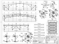 Montážní výkres ocelové konstrukce