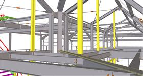 steel structure of factory building for the engineering industry