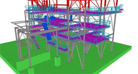 steel structure for processing equipment
