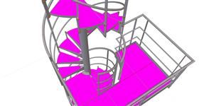 steel structure of the spiral staircase for the gas tank