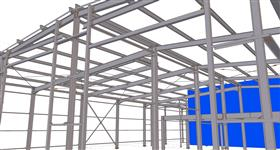 steel structure of cargo garage building