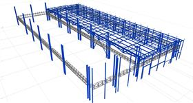 secondary steel construction for power distribution in industrial complex