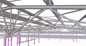 steel structure of the warehouse