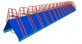 steel structure of skylight transitions