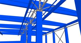 secondary steel construction for concrete frame of the building for energy purposes