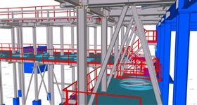 steel construction for the installation of power equipment technology