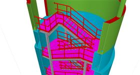 steel construction of emergency staircase energy facilities for underground