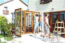 montáž typové zimní zahrady AZ EKOTHERM