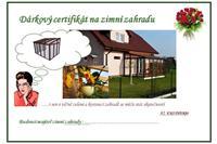 Dárkový certifikát na zimní zahradu
