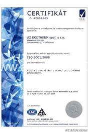 Certificate ISO - AZ EKOTHERM