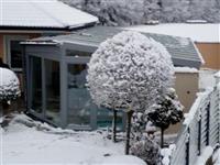 Zimní realizace zastřešení bazénu  prosinec 2018 Hlincová Hora