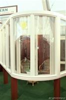 špaletové okno s ohýbanými skly AZ EKOTHERM