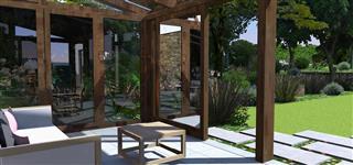 Vizualizace zimní zahrady pro For Garden