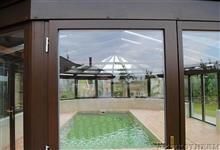 Zastřešení bazénu - pohled do interieru