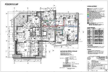 Stavební půdorys bytového domu