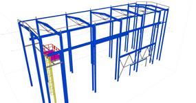 Rekonstrukce ocelové konstrukce přesypné věže