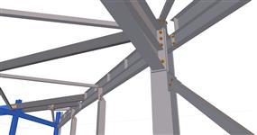 Ocelová konstrukce přístavby