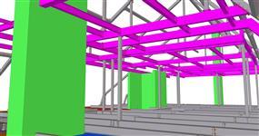 Ocelová konstrukce střešní nástavby