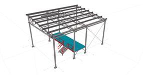 Ocelová konstrukce zastřešení kompostárny