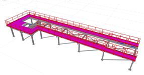 Ocelová konstrukce technologické plošiny