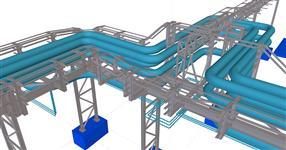 Ocelová konstrukce energomostů Planá n.Lužnicí