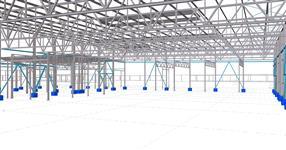 Ocelová konstrukce haly a administrativní budovy
