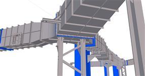 Ocelová konstrukce pro kouřovody