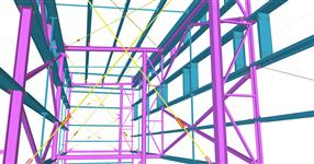 Ocelová konstrukce přístavby haly SWS Slušovice