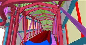 Ocelová konstrukce mostu pro pásový dopravník