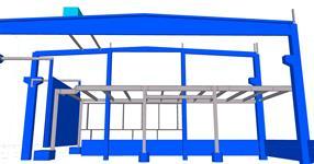 Pomocná ocelová konstrukce železobetonového skeletu pro opláštění