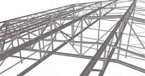 Ocelová konstrukce sportovní haly Lanškroun
