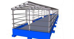 Ocelová konstrukce malé skladové haly