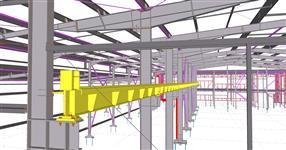Ocelová konstrukce haly AQUA Industrial Olomouc s fasádním systémem METSEC