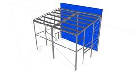 Ocelová konstrukce přístavby kotelny