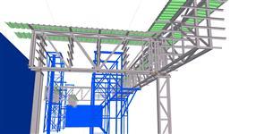 Ocelová konstrukce energomostů