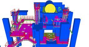 Ocelová konstrukce plošiny pro technologie provozu energetického objektu