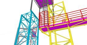 Ocelová konstrukce technologických plošin