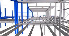 Ocelová konstrukce přístavby Continental Trutnov