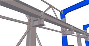 Rekonstrukce ocelové konstrukce haly SOMA Lanškroun