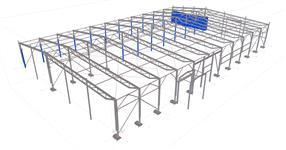 Ocelová konstrukce haly SV-Rentabil Litovel