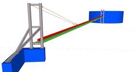 Ocelová konstrukce potrubního mostu