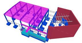 Pomocná ocelová konstrukce přístavby skladu Sanela Lanškroun