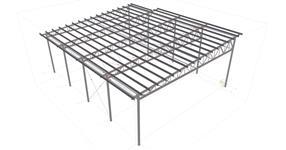 Ocelová konstrukce přístřešku u svařovny SQR Libchavy