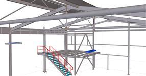 Ocelová konstrukce rošíření výrobní haly