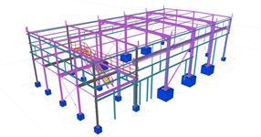 Ocelová konstrukce výrobní haly s vestavěným patrem