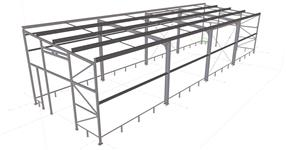 Ocelová konstrukce skladu