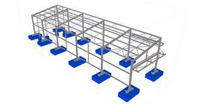 Ocelová konstrukce skladovacího přístřešku